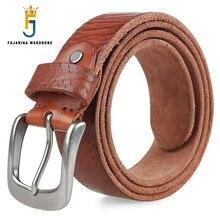 FAJARINA Unisex Classic Style 100% Pure Real Genuine Leather Belts Female High Quality Cowhide Straps Male Belt N17FJ310