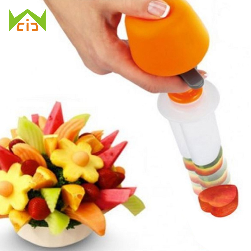 WCIC 1 Set DIY Fruit Shape Cutter Canape Maker Food Vegetable Salad Carving Desert Cake Mold Decorating Tool Perfect for Party