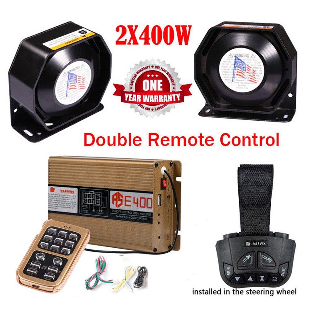 LARATH sirène de Police 400 W alarme d'avertissement 8 son Double télécommande sans fil voiture moto klaxon PA haut-parleur micro système 12 V