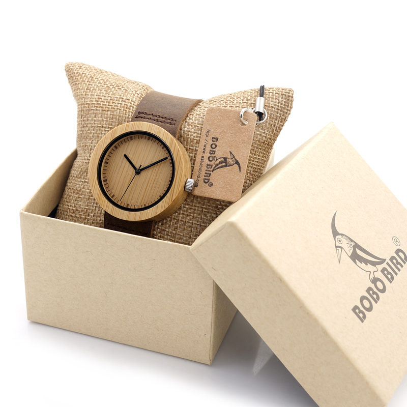 BOBO BIRD Women's Bamboo Watches Leather Strap Female Wristwatch Female Clock Ladies Quartz-watch for Women as Gifts Items bobo bird bamboo wood quartz watch men women japanese majoy movement soft silicone strap casual ladies watch wristwatch for gift
