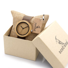 Bobo Bird Women S Bamboo Watches Leather Strap Female Wrisch Clock Las Quartz Watch For As Gifts Items