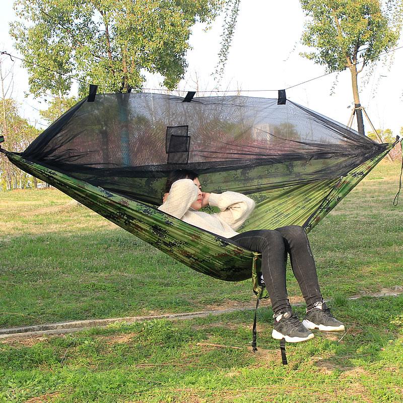 Parachute Hammock Camping Bug Net Hammock Nylon Outdoor Hammock Hangmat