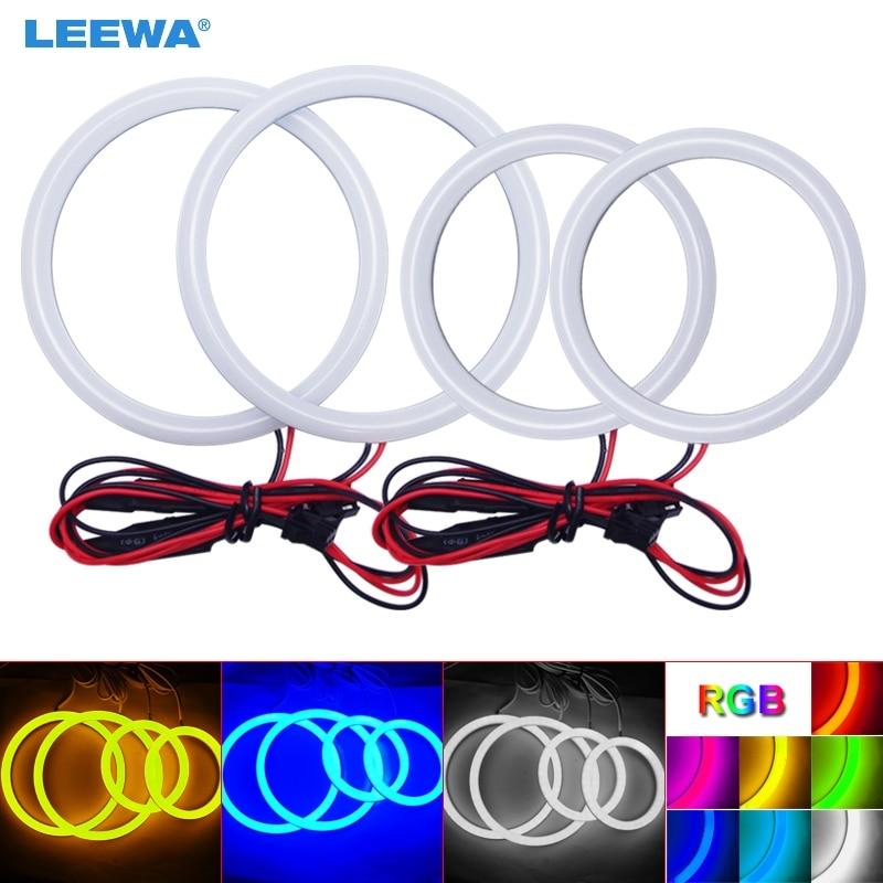 LEEWA 2X80mm 2X100mm Car Auto Halo Rings Cotton Lights SMD LED Angel Eyes for Hyundai Tiburon/Sonata/i30 Car Styling White #3244 цена