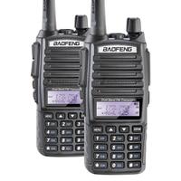 Free Shipping Genuine BaoFeng uv 82 Walkie Talkie Dual Band Two Way Radio Double PTT Headset Portable Radio