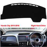 3Colors Car Interior Dashboard Cover Dash Mat Decoration Covers Fit For Honda City RHD 2015 2016
