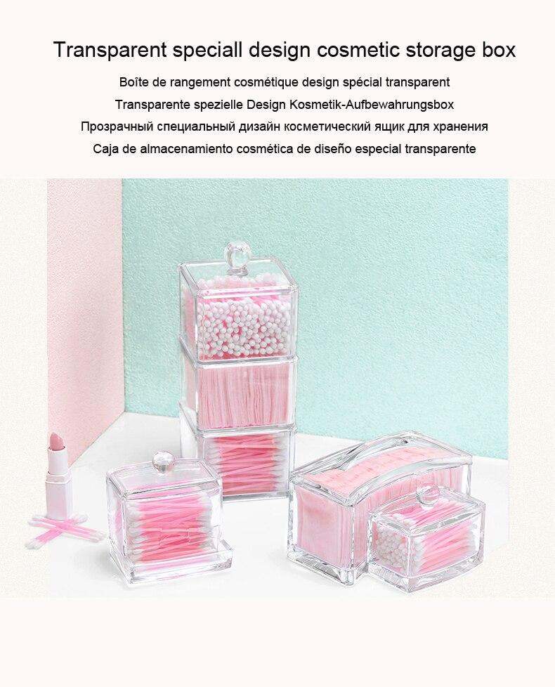 Šperky a kosmetické úložné boxy Displej na make-up Organizér na bavlněné tampony Organizér Držák na drobné módy