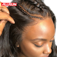 Allrun Lace Front Human Hair Wigs One Pack Brazilian Straight Hair 360 Lace Frontal Wig With Baby Hair Natural Hairline Non Remy
