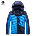 2016 Men Winter Cotton Jackets and Coats Jaqueta Masculina Men's Casual Fashion Slim Fit Zipper Hooded Padded Veste Homme Jacket