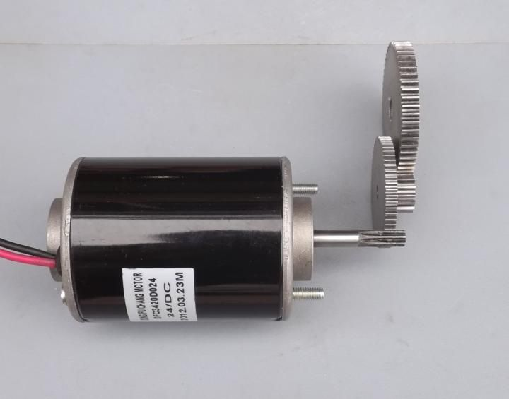 With gear 40W-50W hand-cranked generator DC small generator 12V-24V permanent magnet DC motor dual-use a58sw31zys12 volt 220v powerful dc small motor output shaft gear electric toys 12v permanent generator tubular micro retifica