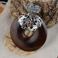 [silver] silver deer king S925 wholesale sterling silver pendant rosewood antique style female buckle