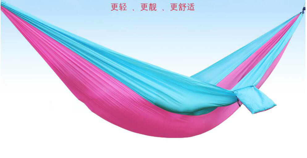 Outdoor Double Hanger Parachute Cloth Indoor Student Dormitory Swing Tourist Mountaineering Camp Light free shippingOutdoor Double Hanger Parachute Cloth Indoor Student Dormitory Swing Tourist Mountaineering Camp Light free shipping