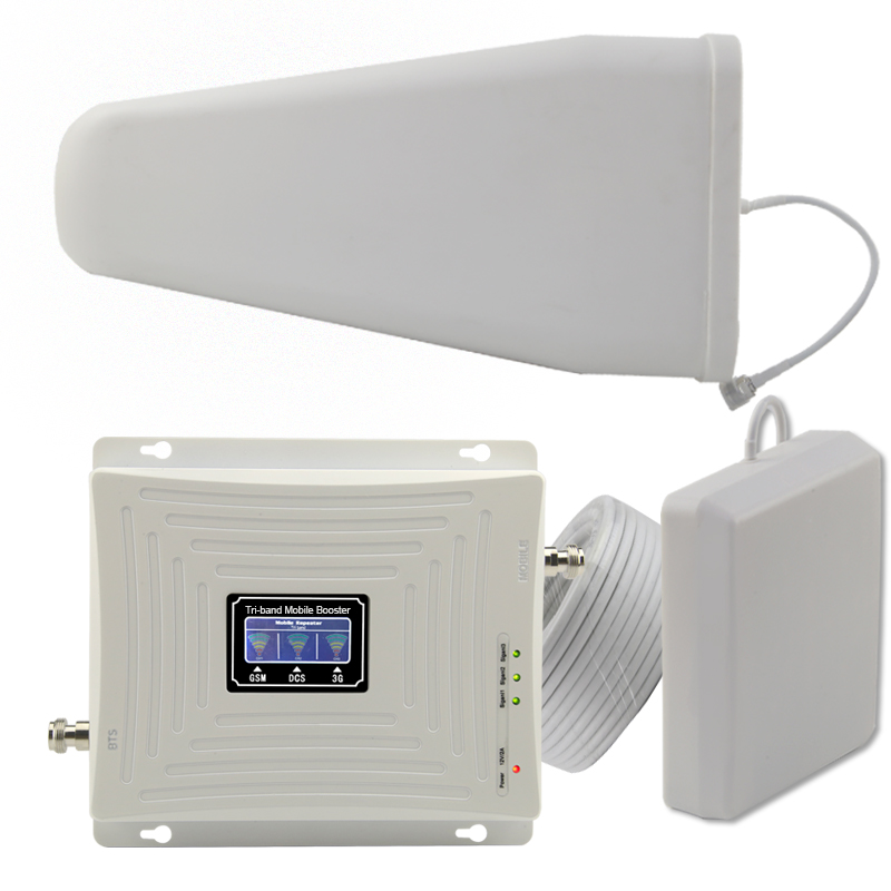 Repeatnet GSM DCS WCDMA 900 1800 2100 Tri Band Mobile Signal Booster 2G 3G 4G LTE