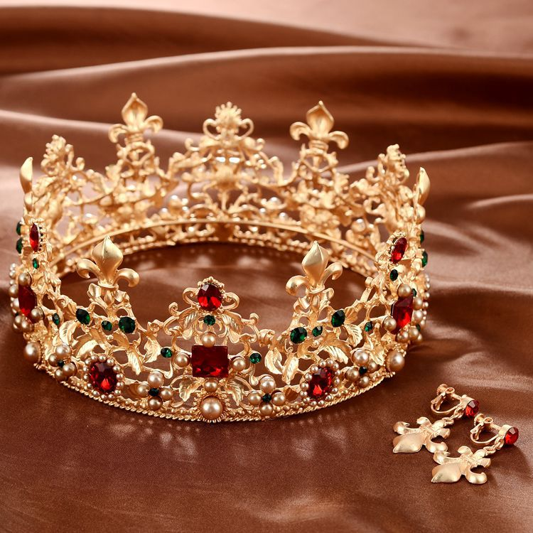تيجان ملكية  امبراطورية فاخرة Baroque-Retro-Luxury-Pearl-Crystal-font-b-Gold-b-font-Crown-Bridal-Wedding-Jewelry-Rhinestone-font