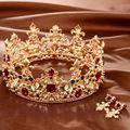 Barroco Retro Luxo Ouro De Cristal Pérola Da Coroa Nupcial da Jóia Do Casamento Strass Tiaras Coroas Pageant Vestido de Acessórios Para o Cabelo