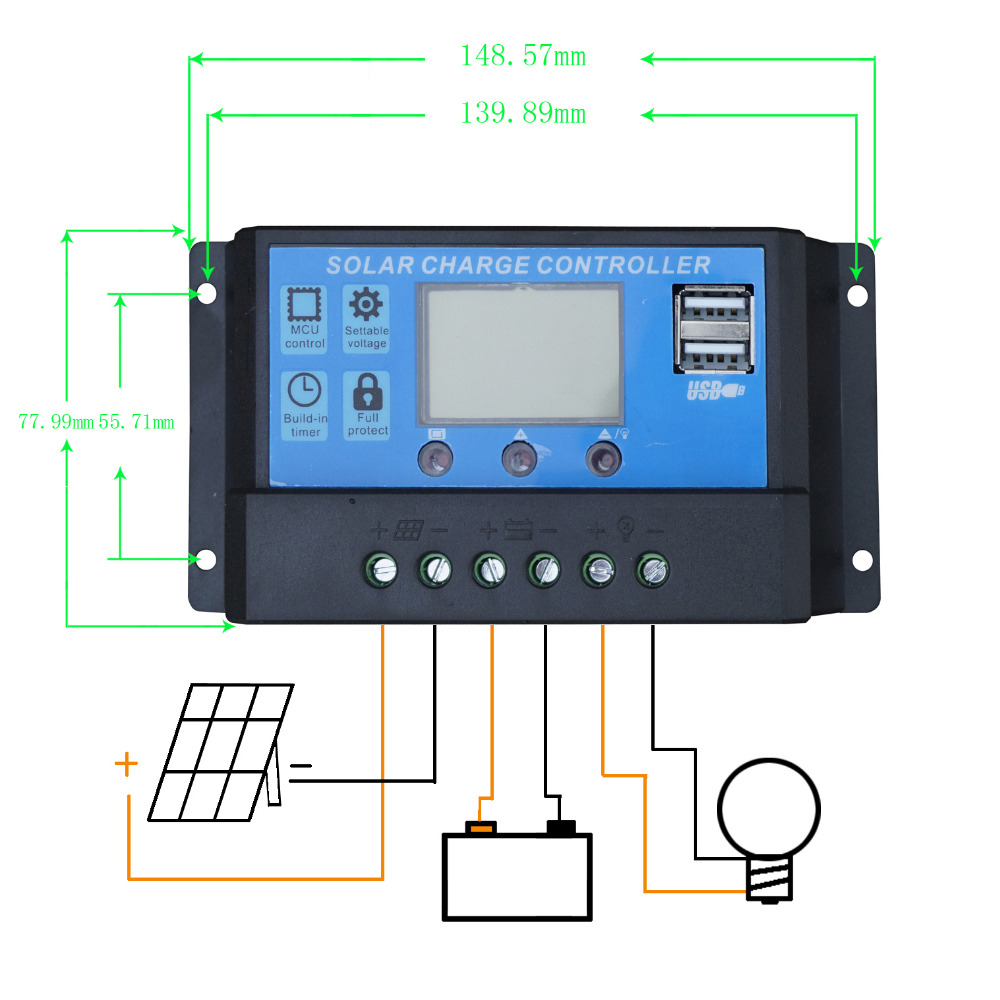 Buy 20a Lcd Solar Charge Controller 12v 24v Pwm Panel Battery Diagram Charger Regulator For Home Use Pv System From