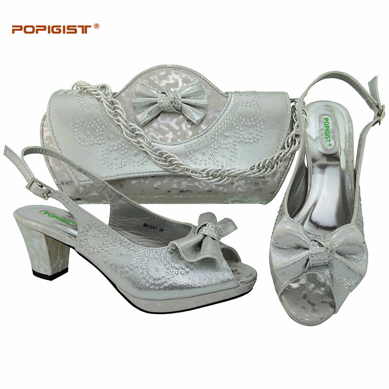 5436e7a1492 Grosir silver shoes matching bag Gallery - Buy Low Price silver shoes  matching bag Lots on Aliexpress.com