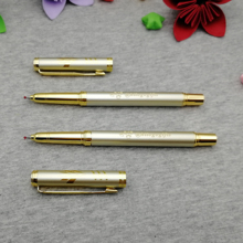 Company Event & Party giveaways nice gold roller pen custom free with your company logo/web/contacts 50pcs rush ship by DHL