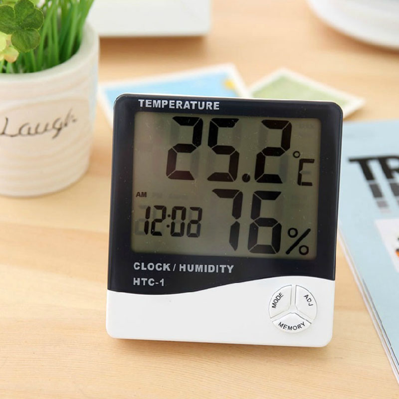 Hygrometer Electronic Thermometer Indoor Outdoor Tester Digital High Precision Humidity Meter Large Screen