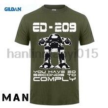 15cf9eb8a GILDAN 100% Cotton O-neck printed T-shirt Robocop T Shirt ED 209