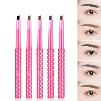 1 PC Black Wave Point Liquid Eyebrow Pencil  Waterproof Long-lasting Eye Pencil Beauty Makeup Cosmetics Drop