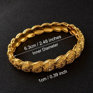 Image 3 - Anniyo Middle East Arab Dubai Bangle Bracelet for Women African Gold Color Jewelry Trendy Gifts (4PCS/LOT) #117806