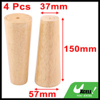 Wood Furniture Desk Cabinet Bed Sofa Legs Feet Replacement 6 Inch Height 4 Pcs