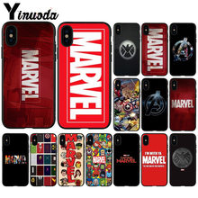 Yinuoda Marvel Comics logo DIY Printing Drawing Phone Case cover Shell for Apple iPhone 8 7 6 6S Plus X XS MAX 5 5S SE XR Cover(China)