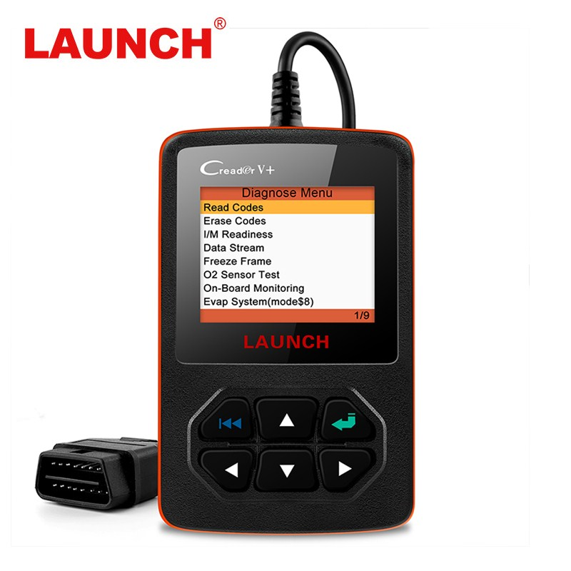 Launch Code Reader X431 Creader V+ OBD2 Automotive Scanner OBD 2 Car Diagnostic Tool For Engine Clear DTCs With Multi language launch x431 obd2 automotive diagnostic scanner obd2 bluetooth adpater mdiag elm327 update online enhanced code reader