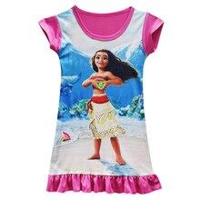 682895ddee2d0 Robe d été fille Moana Costumes princesse fille bébé filles robe fête  d anniversaire vêtements robe de nuit pyjamas robe de nuit