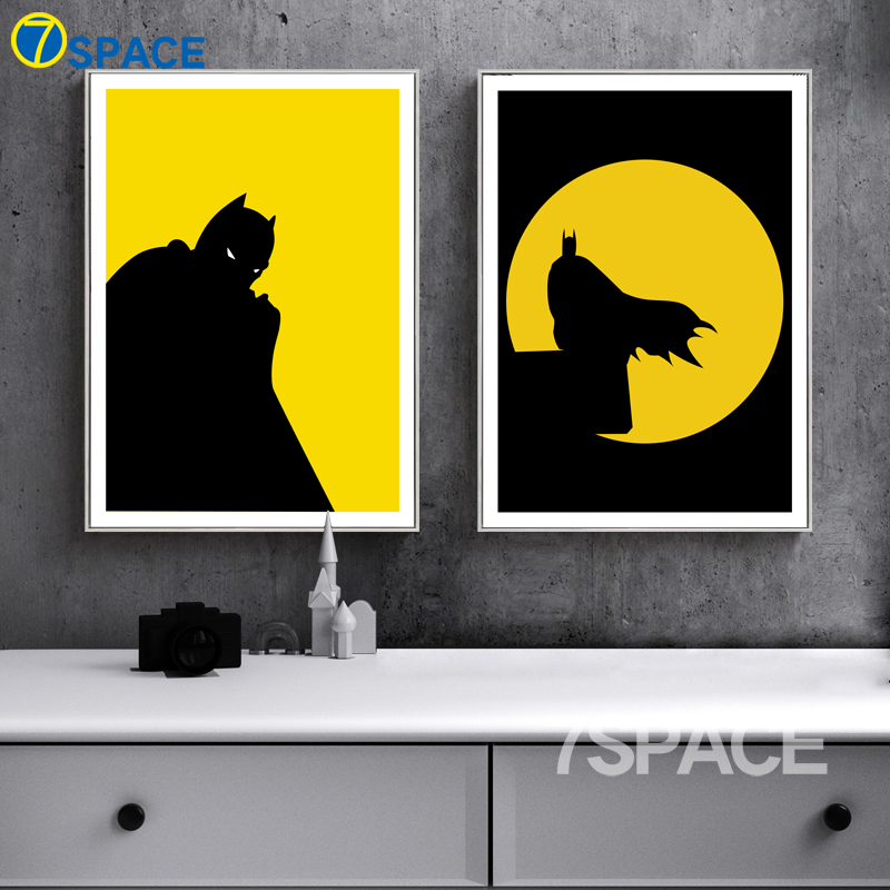 7 Space Cartoon Batman Lion King Wall Art Canvas Prints Nordic ...