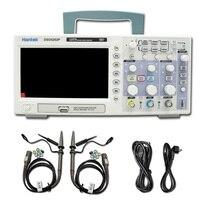 Hantek DSO5202P Цифровой Осциллограф портативный Osciloscopio 200 мГц пропускной способности 2 Каналы PC USB ЖК дисплей portátil электрические инструменты