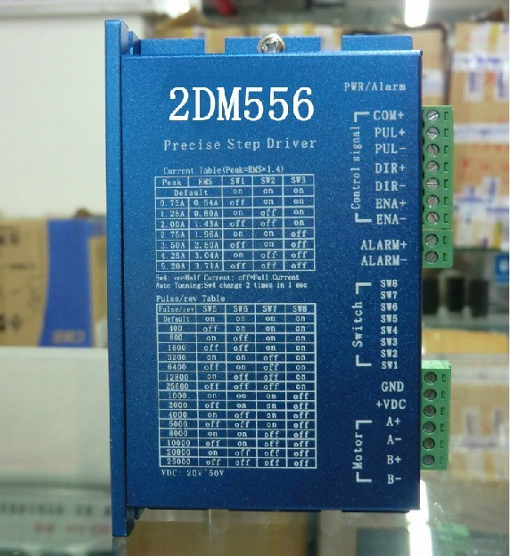 New Easy Thai CNC Digital stepper motor drive 2DM556 work 24-50VDC ,out 0.7A-5.2A 2-phase step driver 512 Subdivision цена и фото
