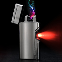 Skin Telepathy Electric Usb Lighter Plasma Cigarette Windproof Daul Arc Lighters Accessories Mens Gift For Outdoor Business