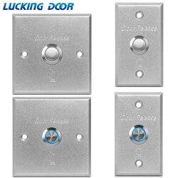 LUCKING przycisk wyjścia drzwi drzwi zwolnienie przełącznik wciskany do systemu kontroli dostępu LED light inciator przełącznik wciskany ze stopu aluminium