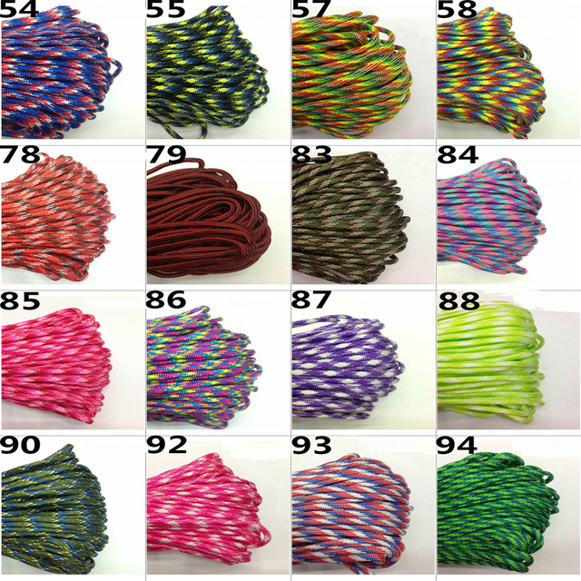 10M Paracord 550 Paracord Parachute Cord Lanyard Rope Mil Spec Type III 7 Strand Climbing Camping Survival Paracord 5