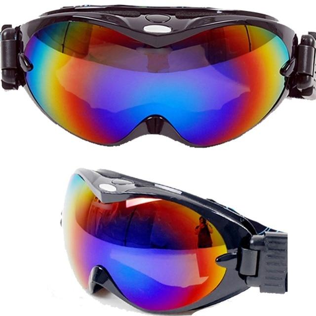 Snow Snowboard Ski Goggle Double Lens Anti-Fog UV400 Protection CE Snow goggles 3 Silicon Anti-slip