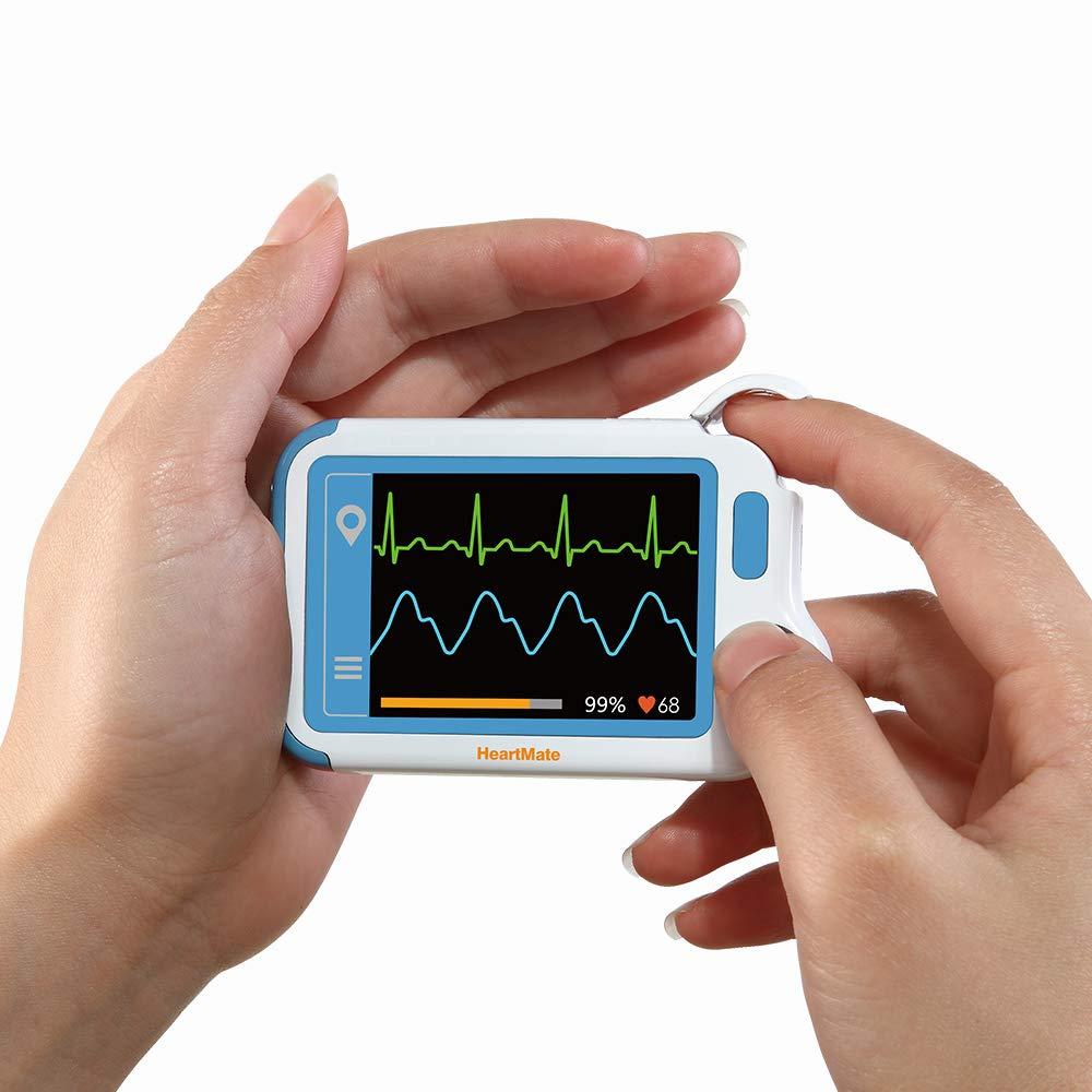 ECG Monitor, HeartMate-Lite Heart Health Tracker Detect Atrial Fibrillation In Plam  Professional ECG  Pulse Analysis Backlight