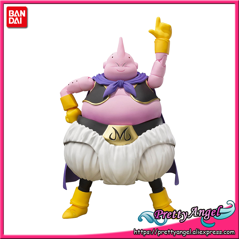 PrettyAngel - Genuine Bandai Tamashii Nations S.H.Figuarts Dragon Ball Z Majin Buu (Good) Action Figure q version dragon ball z majin buu figure doll action figures toys great gift