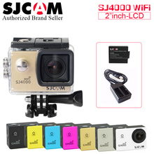 [Extra Battery + Charger] Original SJCAM SJ4000 WIFI Action Camera Diving 30M Waterproof Camera Underwater 1080P Sport Camera