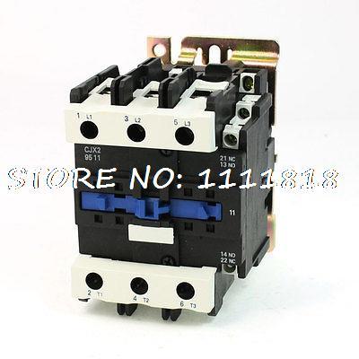 CJX2-9511 DIN Rail Mount AC Contactor 3 Pole One NO 24V Coil 125A high quality cjx2 cjx2 9511 95a