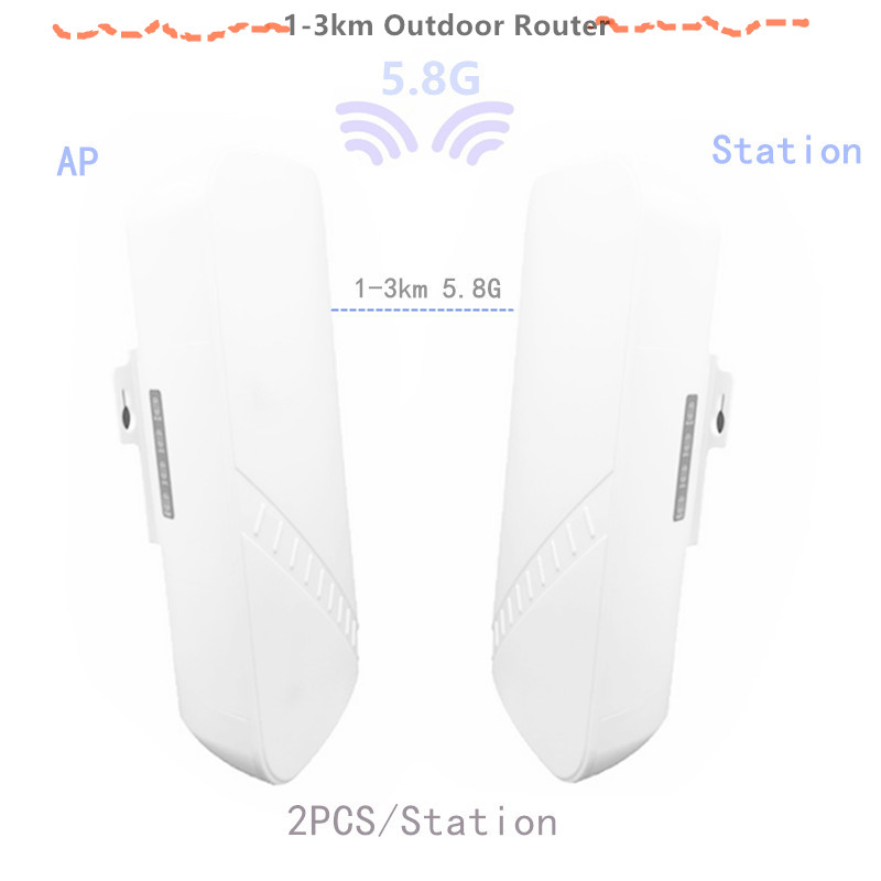 2 Pieces 1-3 Km 300 Mbit Open Router CPE 5.8 G Wireless Access Point Router Wi-Fi Bridge Extension Center Router With 24 V POE