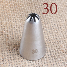 VOGVIGO #30 Cream Icing Nozzle Piping Tip Stainless Steel Cake Decorating Tips Pastry Tools Bakeware Small Size