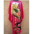 Desconto de férias Hot Pink Sleepwear Seda das Mulheres Novidade Impresso Roupão Desgaste Doméstico Casual Atacado E Varejo Um Tamanho NS0042