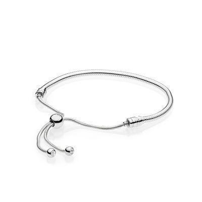NEW 2018 100% S925 sterling silver bracelet valentine's day hot sales of love telescopic pandora bracelet.