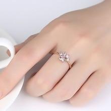 цена на Cat Claw Opening Adjustable Ring Women Rose Gold Crystal Zircon Finger Ring