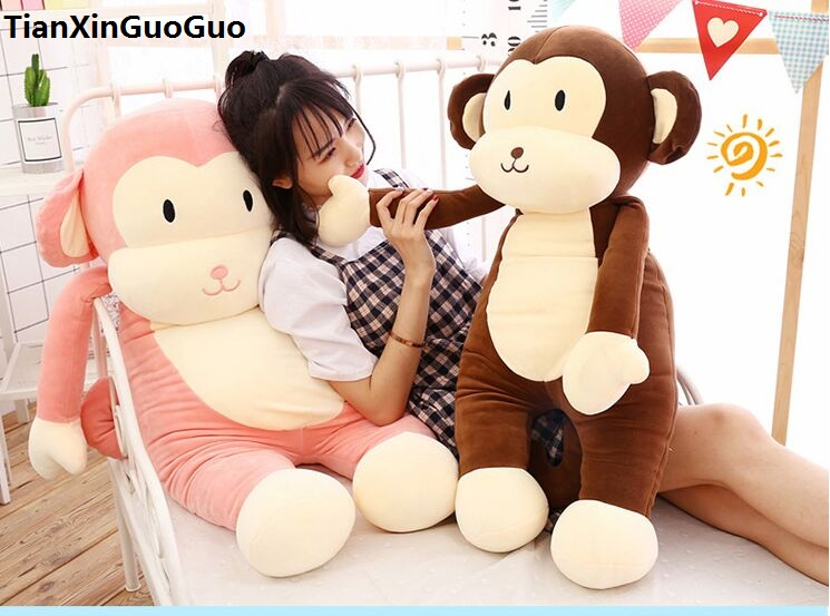 stuffed fillings toy large 100cm cartoon monkey plush toy creative pillow down cotton soft throw pillow birthday gift s0643 2543 carrot shaped pp cotton plush throw pillow orange 40cm length