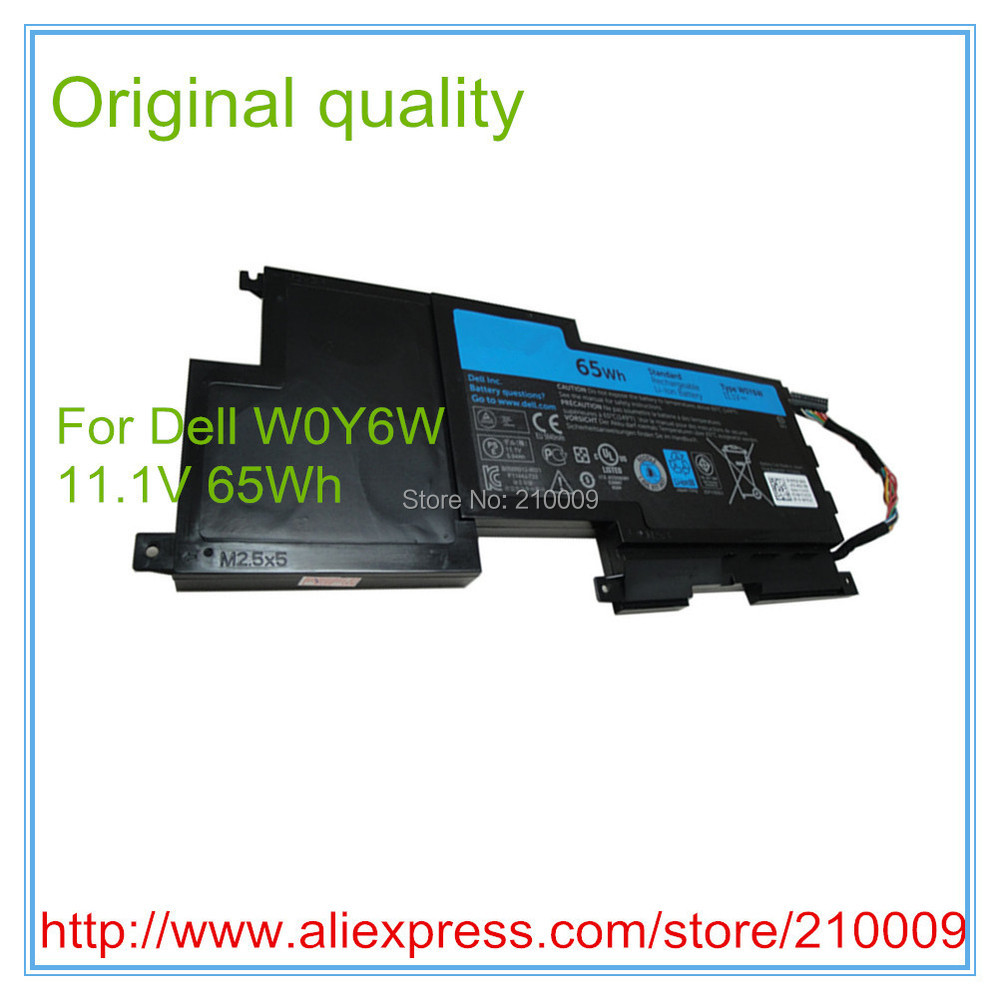 Фотография Free shipping original 11.1V 65Wh 9Cell W0Y6W Battery for 15-L521X Series W0Y6W 9F233 3NPC0