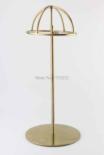 5 pcs titanium ouro polonês altura ajustável chapéu chapéu cap chapéu de exibição titular rack suporte de metal carrinho de exposição cremalheira