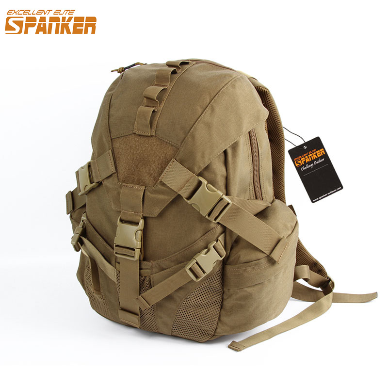 EXCELLENT ELITE SPANKER Tactical Outdoor Mountain Climbing Hunting Backpack Nylon Military Triangle Cover Sports Bag ICON Style флягодержатель bbb compcage пластик белый bbc 19