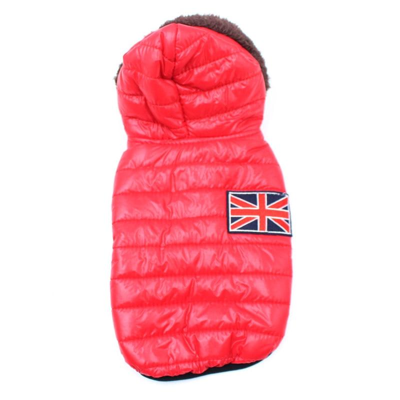 Новая зимняя одежда для собак для маленьких собак, теплый пуховик, водонепроницаемая куртка для собак, толстый хлопковый лыжный костюм, одежда для чихуахуа-3